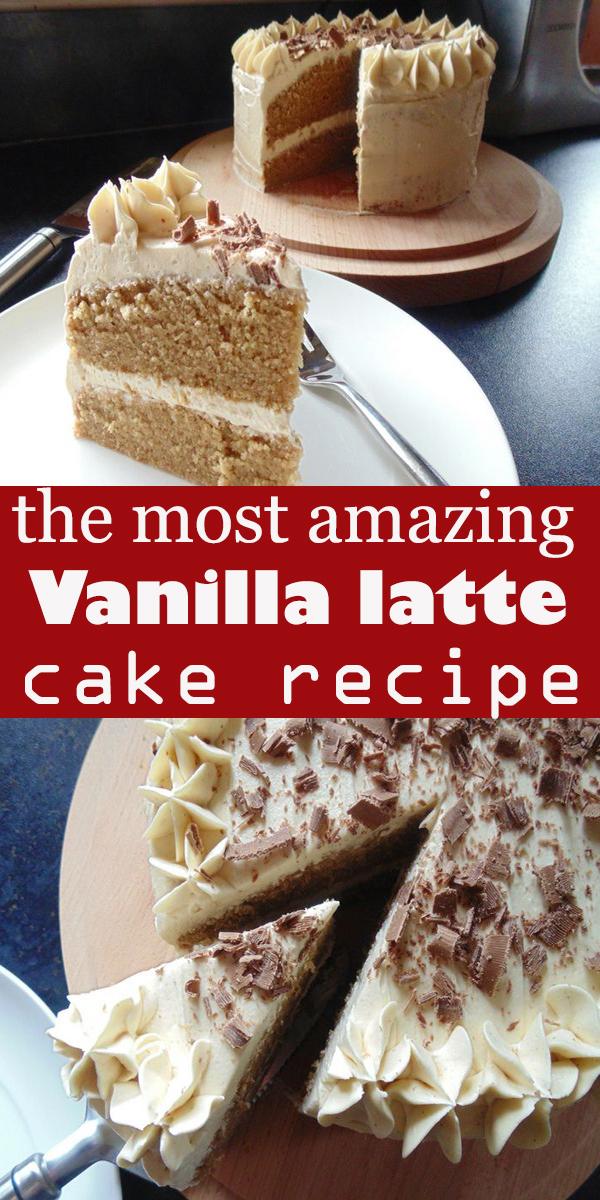 Vanilla latte cake #Vanilla #latte #cake #dessert #pie #Vanillalattecake