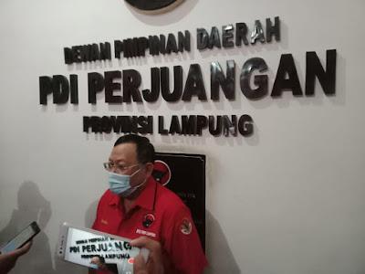 PDIP Keluarkan Rekomendasi Paslon Untuk Metro dan Lampung Selatan