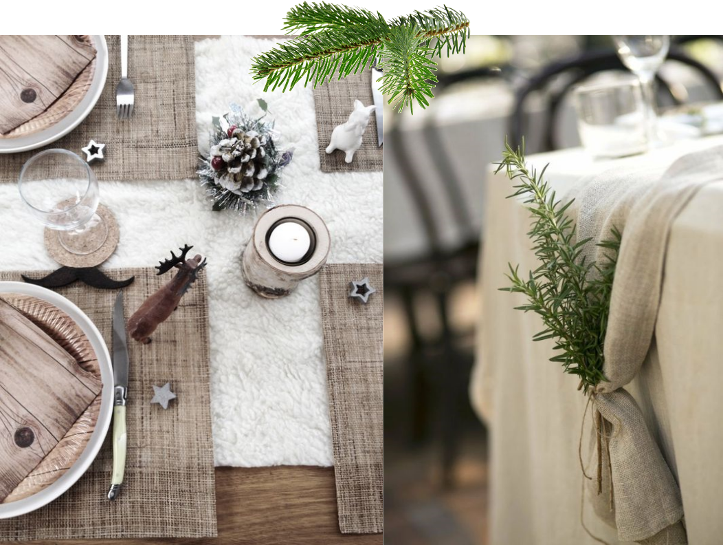 table-theme-fetes-noel-christmas-nature-toile-de-jute