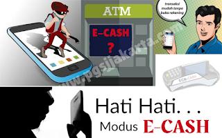 Hati hati modus baru penipuan e cash pembayaran uang elektronik
