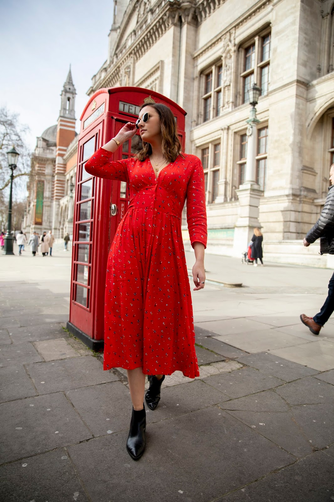 The Statement Red Dress Outfit Fashion Blogger London // Lauren Rose Style // Street Style