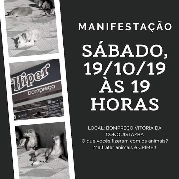 """""""CÃES DOPADOS"""" (Vídeo)   Ativistas farão protesto em frente ao Bompreço para cobrar respostas sobre os animais sedados no estacionamento"""