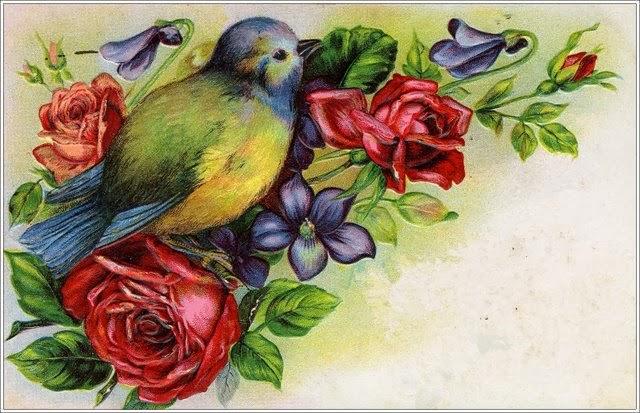 Little Birdie Blessings : Free Spring Vintage Graphics
