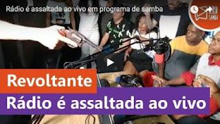 Bandidos invadem rádio