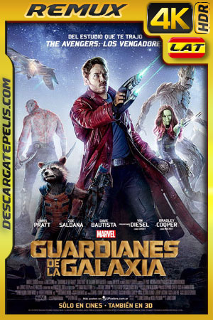 Guardianes de la galaxia (2014) 4k BDRemux HDR Latino – Ingles
