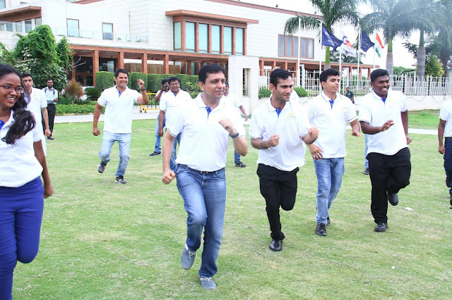Ravi Khubchandani General Manager of Novotel Hyderabad Airport at a Zumba Session