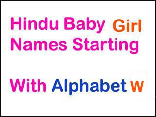 Hindu Baby Girl Names Starting With W