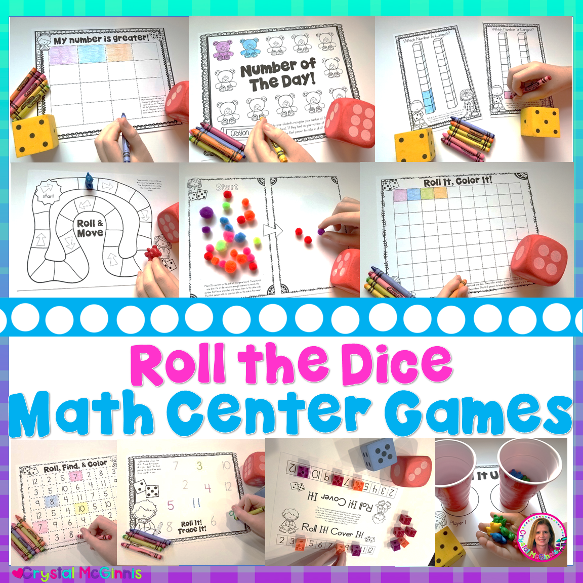 14 Dice Games for Kindergarten Math | Mrs. McGinnis' Little ...