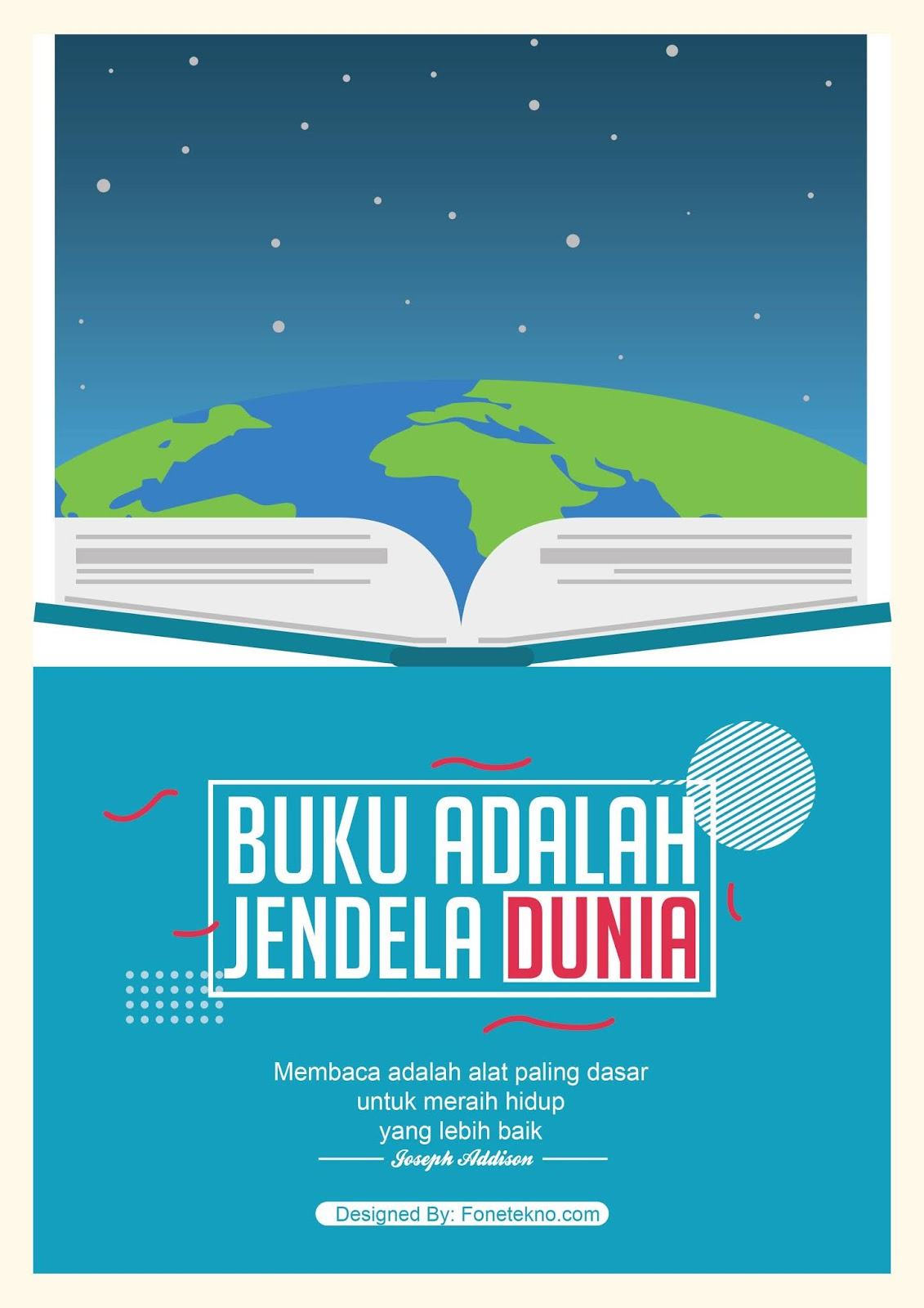 Profesional Teacher Poster Pendidikan Coreldraw