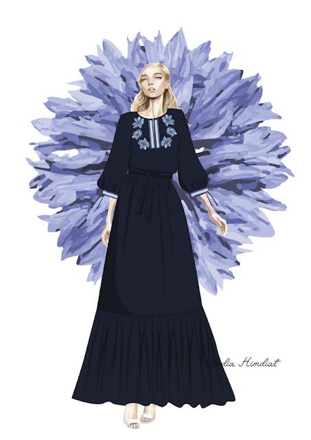 Платье. Модель PL-386. Автор: Nadia Himdiat