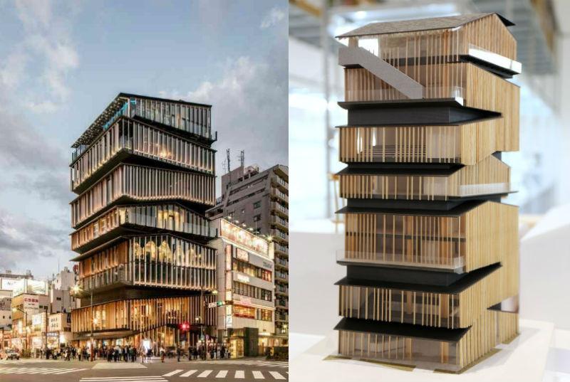 Centro de Información Turística de Asakusa en Tokio por Kengo Kuma
