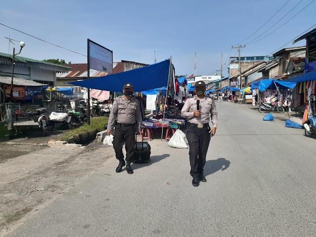 Menyongsong New Normal, Polsek Pantai Cermin Terus Imbau Masyarakat  Patuhi Protokol Kesehatan