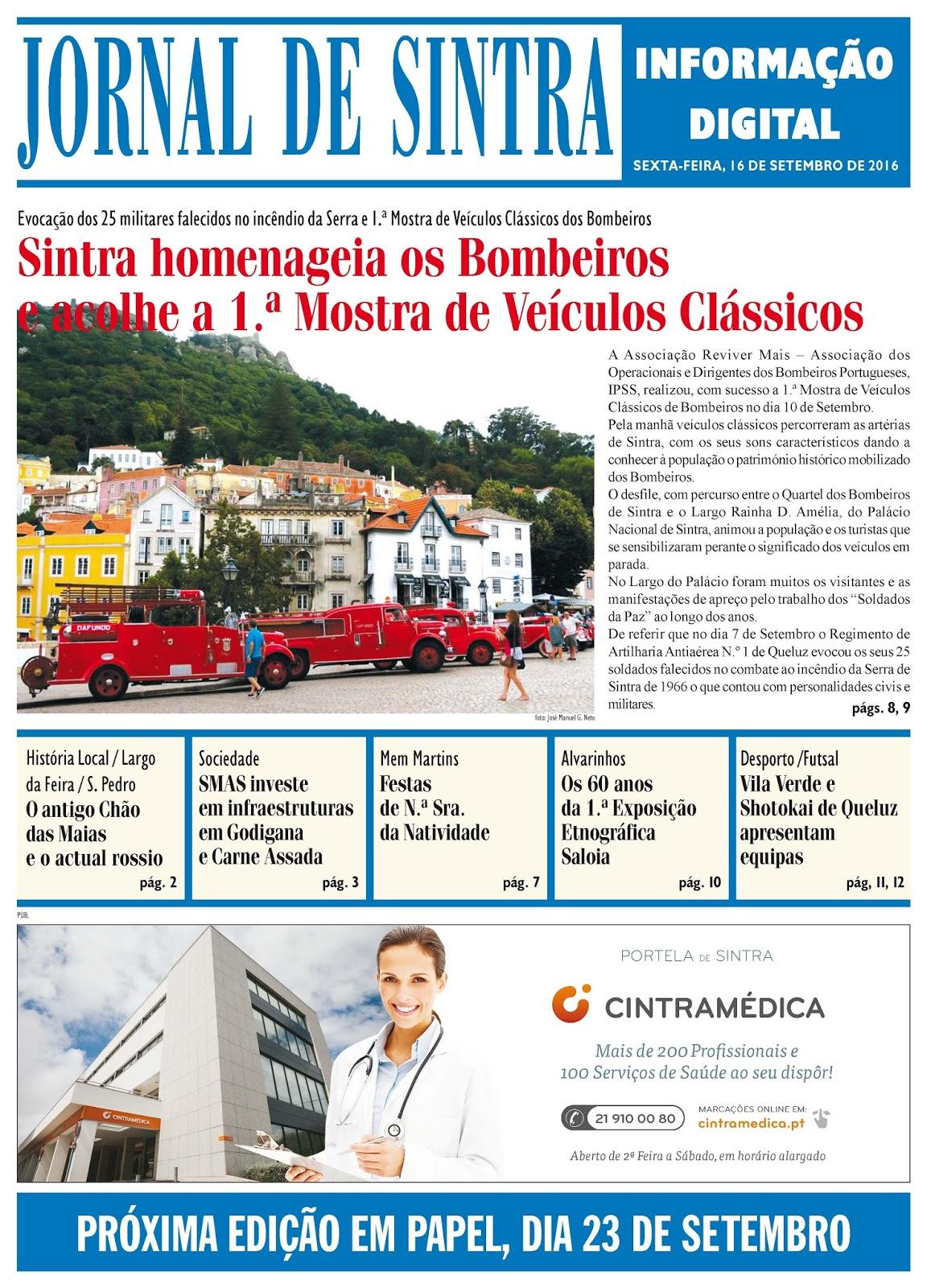 Capa da edição de 16-09-2016