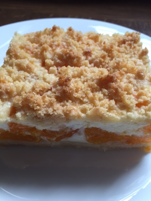 Mandarinen Schmand Streuselkuchen Gebacken Auf Dem Grossen
