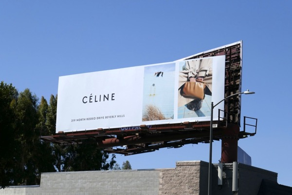 Céline Spring 2018 fashion billboard