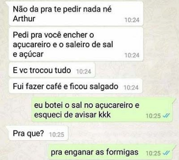 Como enganar as formigas