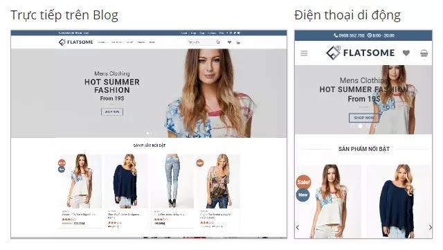 Theme blogspot bán hàng Flatsome Classic Shop