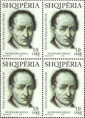 Albania Stamps 2015. Nicéphore Niépce