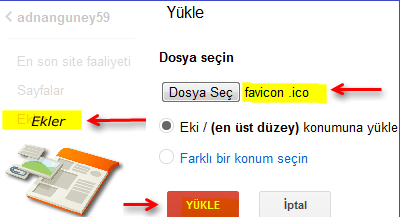 Google sites ekler