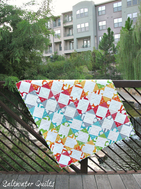 Rainbow Steps and Stairs Quilt | Half Square Triangles | © Saltwater Quilts 2012