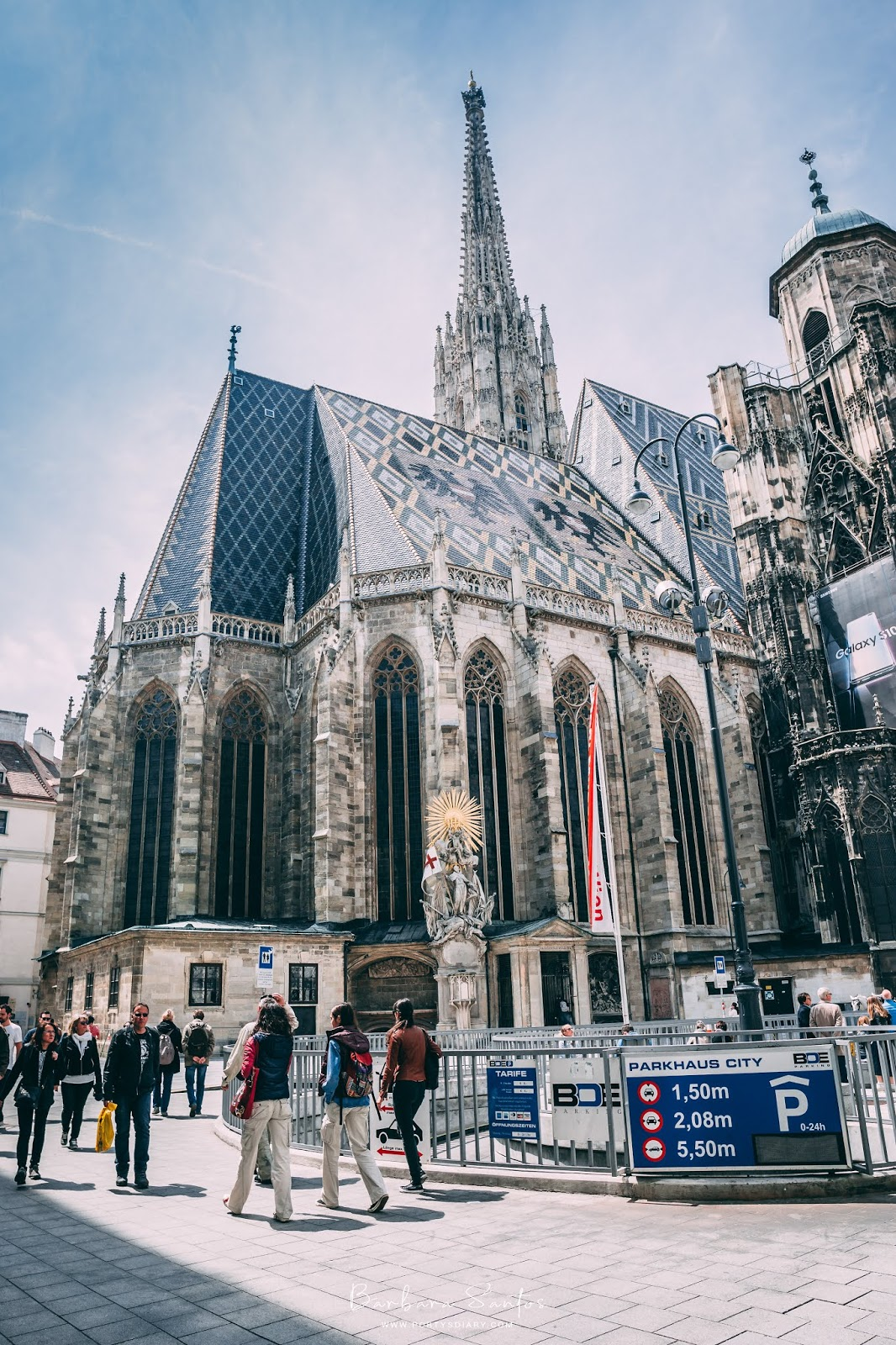 Austrian eagle tile work on Stephansdom's roof | Vienna - Travel
