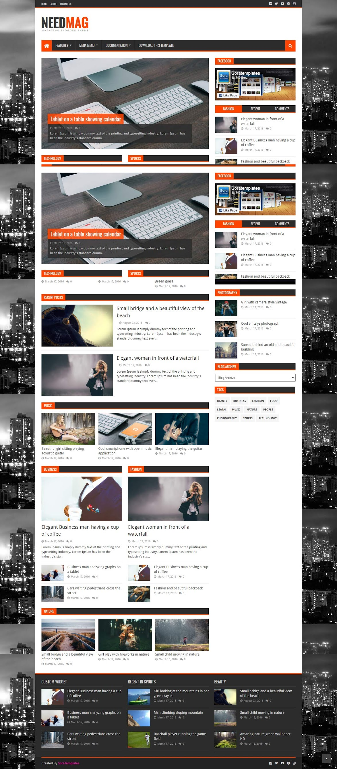 ScreenShot of Need Mag Blogger Template