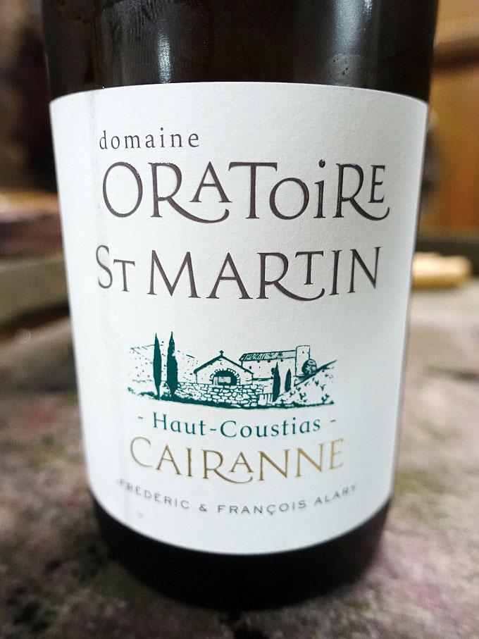Domaine Oratoire Saint-Martin Haut Coustias Cairanne Blanc 2016 (90 pts)
