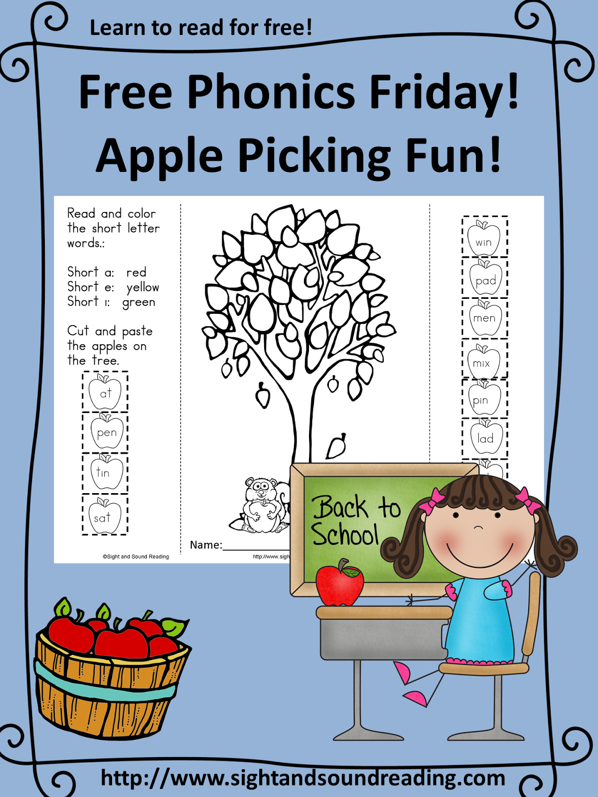 Classroom Freebies Too Free Phonics Worksheet Apple
