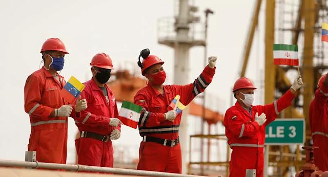 Marinha da Venezuela acompanha chegada de 4º petroleiro iraniano