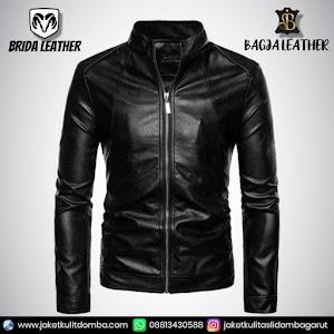 Jual Jaket Kulit Asli Garut Pria Domba Original Brida Leather B34   WA 08813430588
