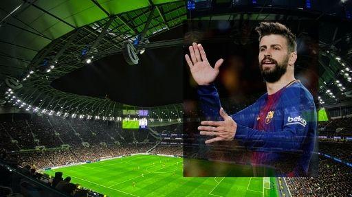 يعود لاعب برشلونة بيكيه إلى التدريب