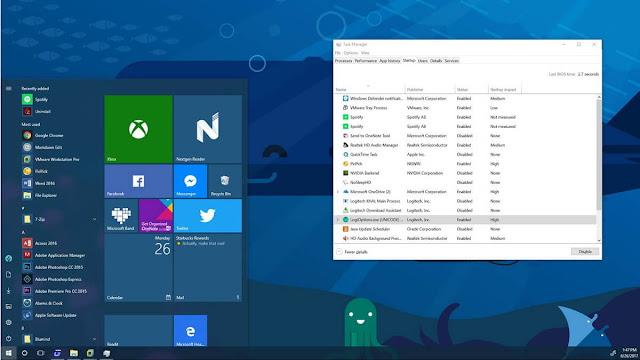 ايقاف البرامج عند بدء التشغيل ويندوز 10