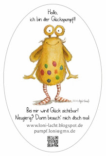 Kinderbuch, Glück, startnext, Loni lacht, Pumpf Loni, Glückspumpf, monsterillustration, kinderbuchillustration, Kommoß