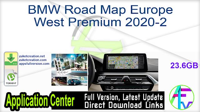 BMW Road Map Europe West Premium 2020-2