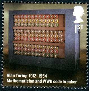 2012 GB 1st Alan Turing, Mathematican & Enigma Code. Britons of Distinction