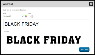 Black Friday Banners: Adding Text in the Online Designer