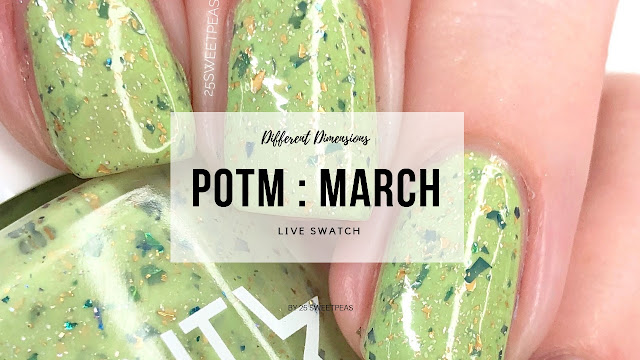 Different Dimensions March Polish of the Month 25 Sweetpeas