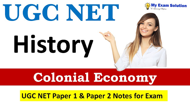 Colonial Economy for UGC NET