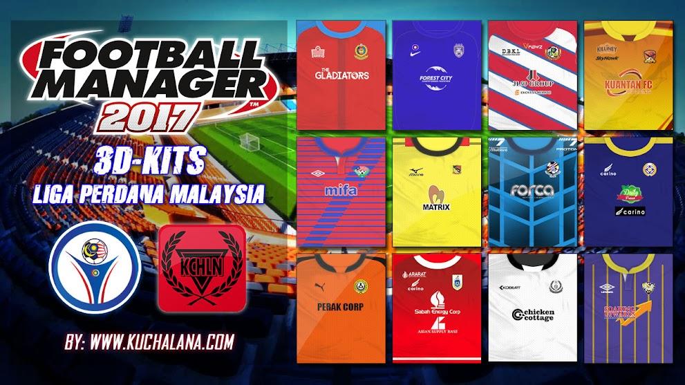 Liga Perdana Malaysia 3D Kits for Football Manager 2017