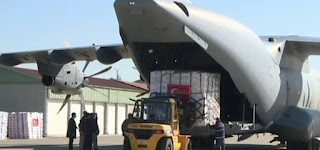 طائرة عسكرية من تركيا إلى إنجلترا