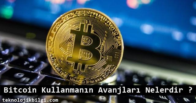 bitcoin avantajları