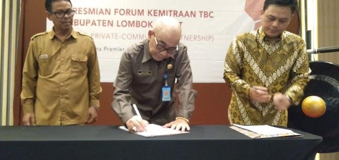 Sekda Resmikan Forum Kemitraan TBC Lintas Sektor di Kabupaten Lombok Barat