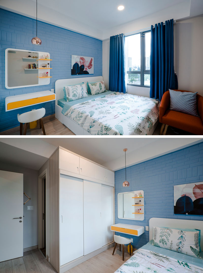 blue-white-yellow-bedroom-020518-1253-07 Fantastic Blue And Yellow Decorating Ideas Keep This Small Apartment Fun And Bright Interior