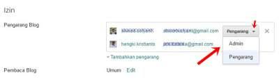 pilih admin ~ cara mengganti dan mengubah admin blogspot benjadi pemilik blog (admin)