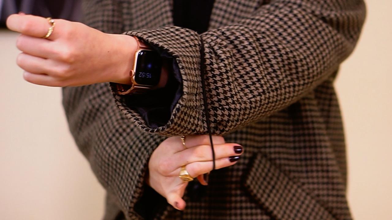 truco para las mangas de blazer