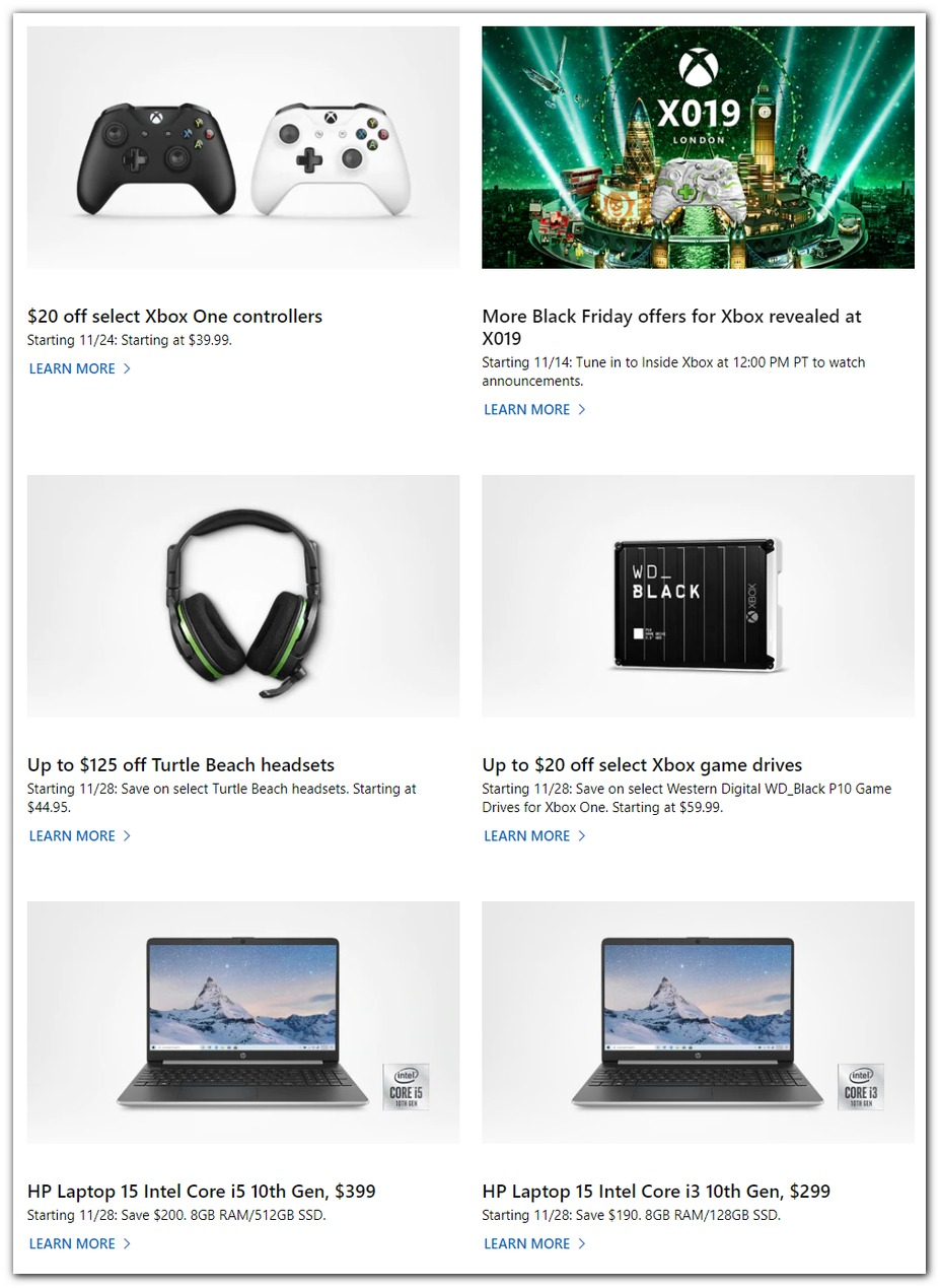 Microsoft Store Black Friday 2019 Page 2