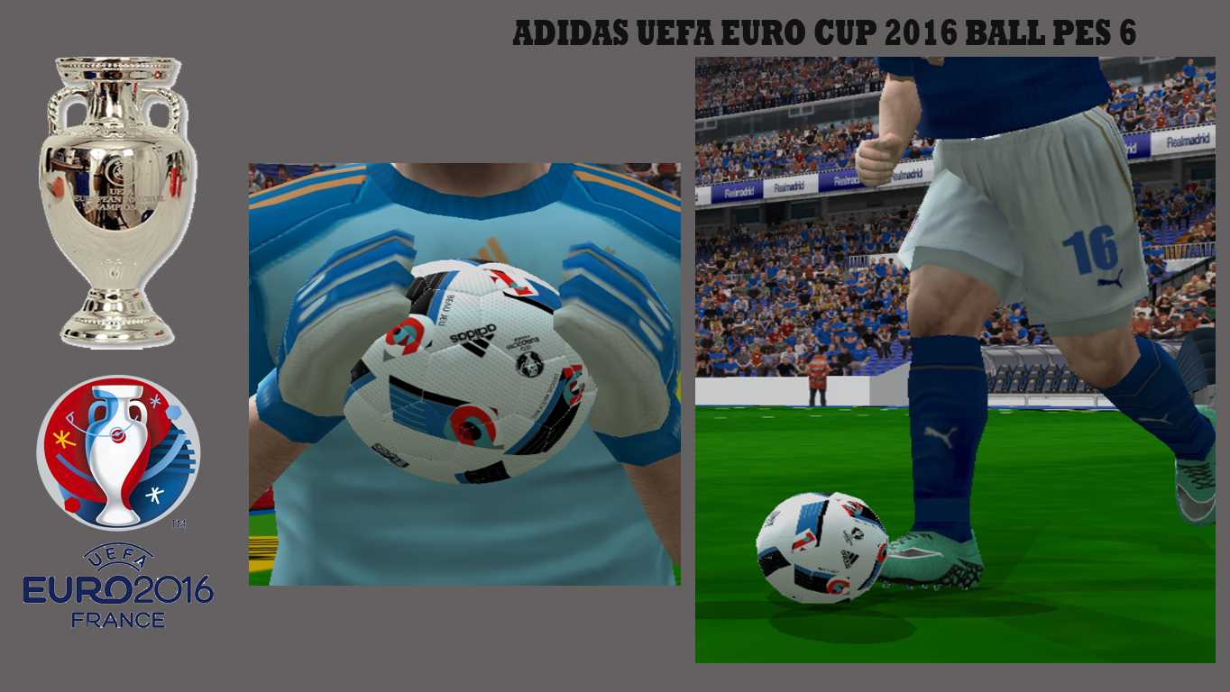 ultigamerz pes 6 adidas uefa euro cup 2016 ball. Black Bedroom Furniture Sets. Home Design Ideas