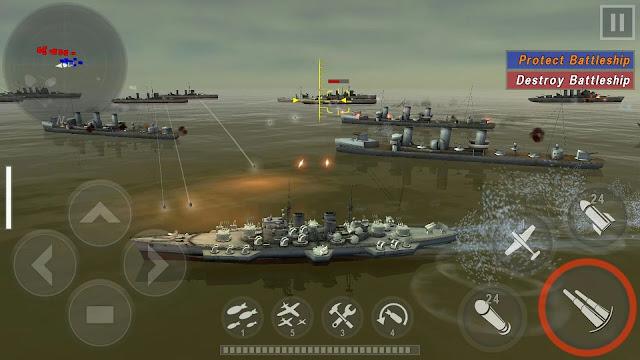 WARSHIP BATTLE  3D World War II Mod Apk v2.1.4 Mod Money