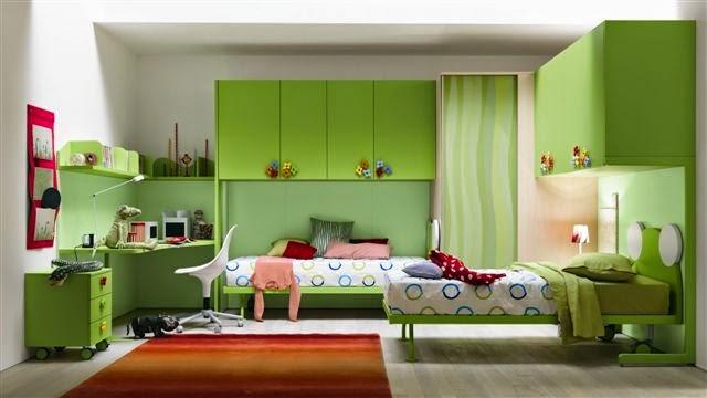 Habitaciones para adolescentes color verde dormitorios for Dormitorios para matrimonios jovenes