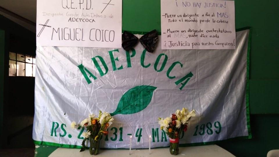 ADEPCOCA  el fin de semana veló simbólicamente al joven de 23 años en su sede de Villa Fátima / RRSS
